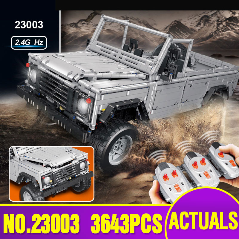 L Models Building Toy L23003 3643Pcs off-road vehicles Blocks Model Building Kits For Boys Girls children Classic Toys Hobbies 8 in 1 military ship building blocks toys for boys