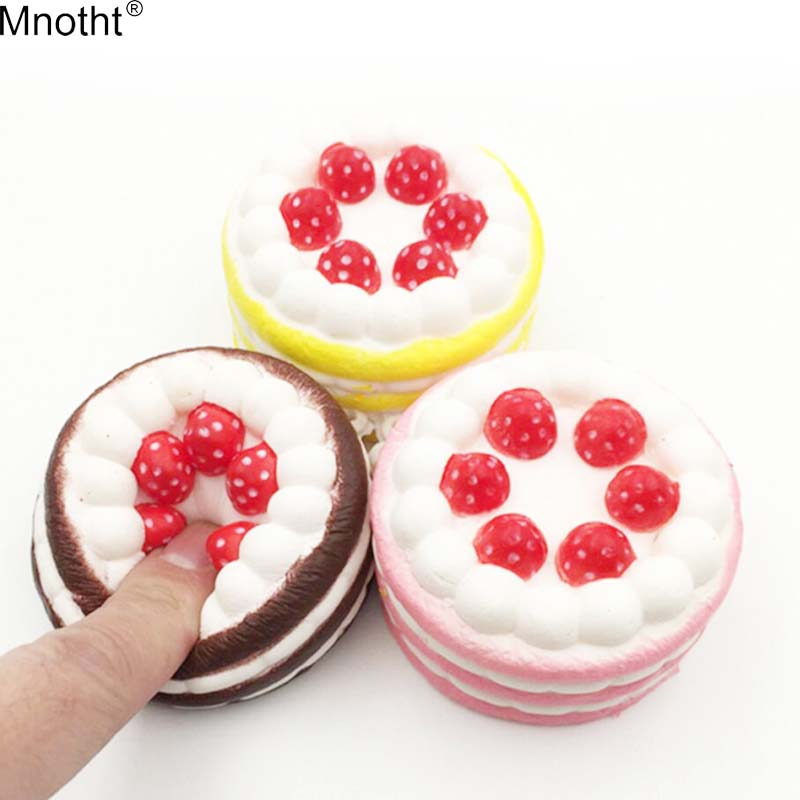 Mnotht Mini Squishies Strawberry Cake Stress Reliever Slow Rising Cream Scented Decompression Cure Toy Squeeze Antistress Toys