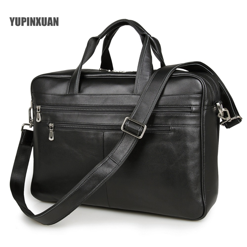 YUPINXUAN Europe Classical Black Cow Leather Travel Bags Men 17 Laptop Handbags Large Capacity Briefcases Leather Messenger Bag аксессуар чехол 17 0 overboard laptop sleeve large ob1074blk black
