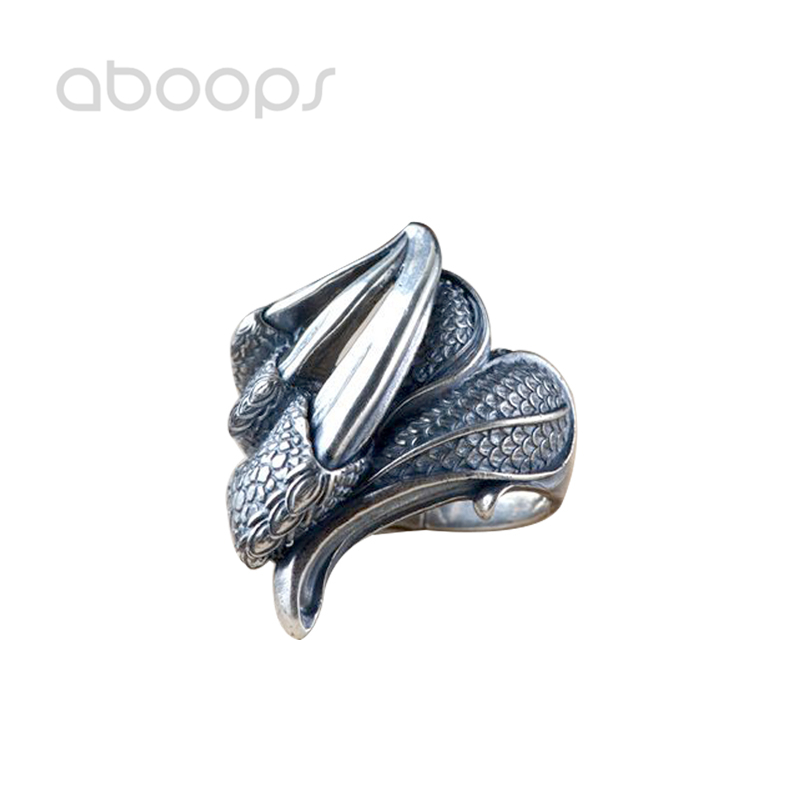 Black 925 Sterling Silver Eagle Claw Ring for Men Boys Adjustable 9-11 Free Shipping цена