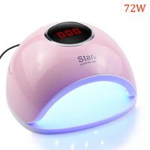 72W UV Led Nail  Lamp For Manicure Led gel light  33 Pcs Leds Nail Dryer For Curing Nail Polish Nail Tools With Infrared Sensing professional 9w 100 240v led light lamp gel nail polish nail dryer