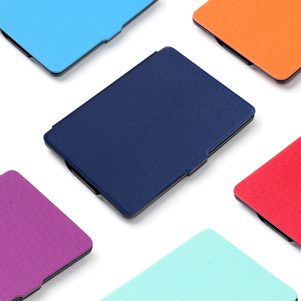 PU Leather Case Cover for funda New Kindle 2016 8th Generation Fundas for Amazon Kindle 8 Generation 2016 Case hot case cover for amazon new kindle 2016 8th 6 generation ebook pu leather painted inner frame for 6 inch pen screen film