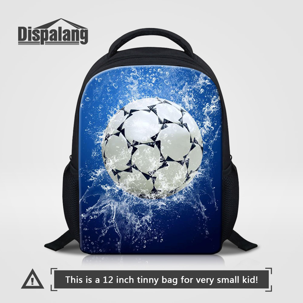 Dispalang Sporty Basketballs Footballs Printing School Bags For Little Boys Children Fashion Backpack For Kindergarten Kids Pack