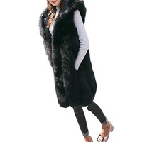 Moda Kadın Hoodie Yelek Yelek Ceket Jile Ceket Faux Fur Dış Giyim Hırka Casaco Feminino Inverno