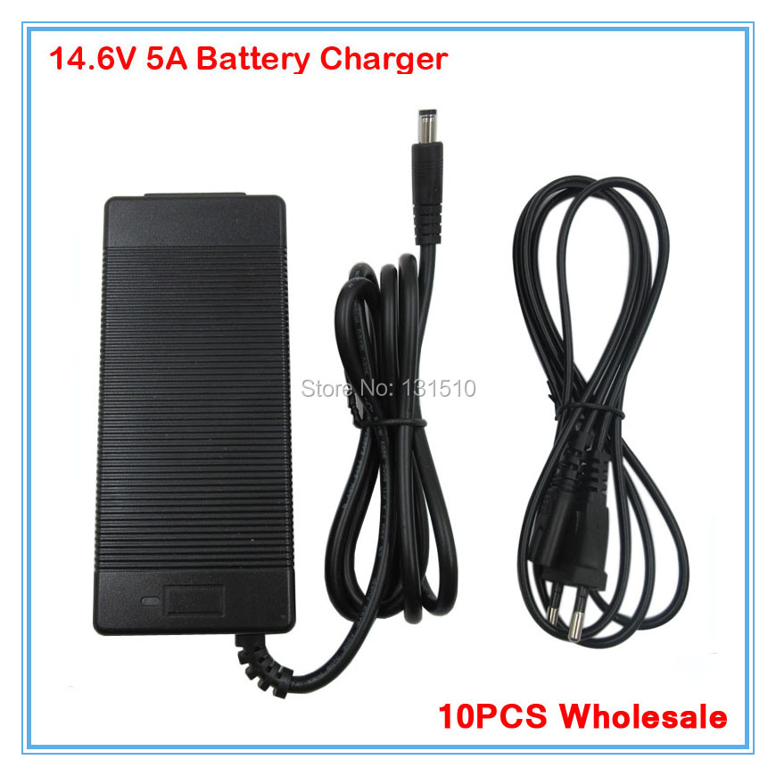 10PCS Wholesale 14 6V 5A LiFePO4 charger 4Series 12V 5A Lifepo4 battery charger For 4S 12V