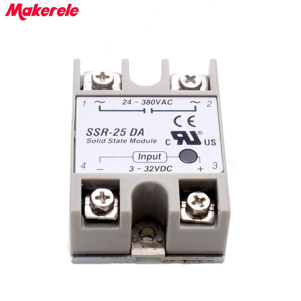 solid state relay SSR-25DA 25A 3-32V DC TO 24-380V AC SSR 25DA top brand Maker new solid state relay ssr 25da 25a 5 24v dc to 24 380v ac ssr 250a 6 20ma