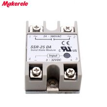 цена на solid state relay SSR-25DA 25A 3-32V DC TO 24-380V AC SSR 25DA top brand Maker new