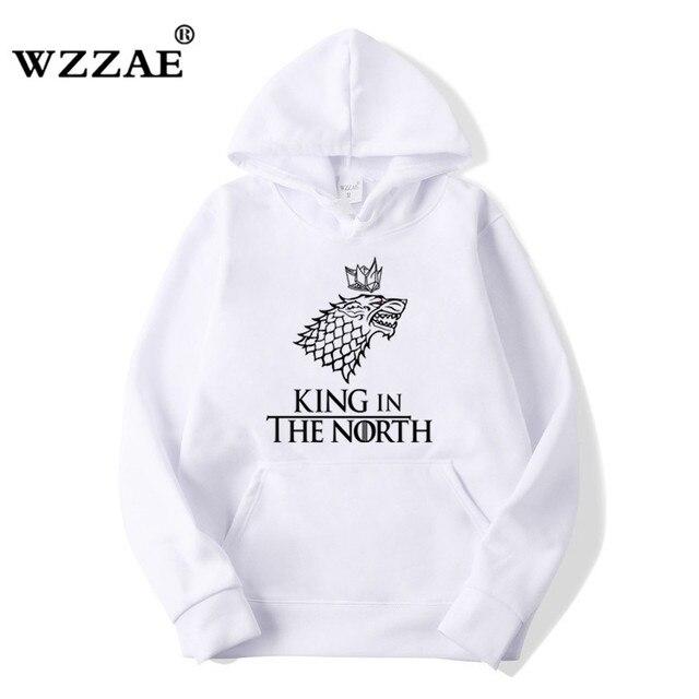Game of Thrones Wolf hoodies Poleron Hombre Fashion Streetwear Cotton Sweatshirt Pullover Men women Hoodie Sweat mens Hoodies