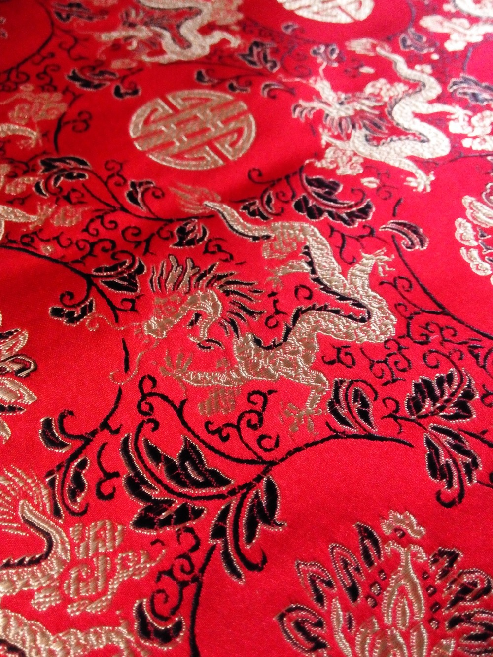 aliexpress com buy fabric chinese traditional silk brocade red