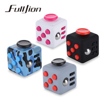 Fulljion Fidget Cube Antistress Toy Entertainment Anti-Stress Anxiety Reliever Magic Figet Cube Six Sided Vinyl Squeeze Fun Toys