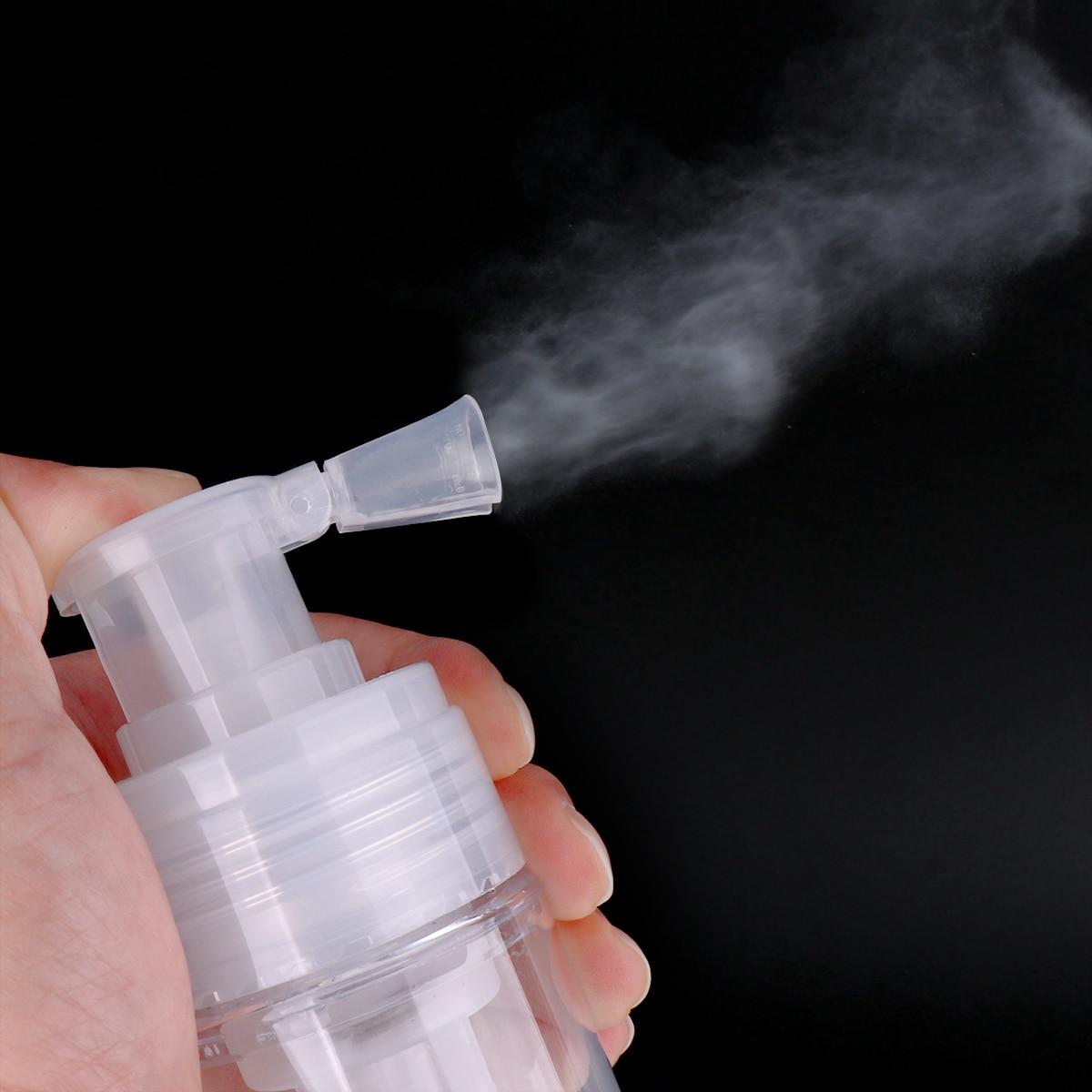 180ML Dismountable Travel Powder Spray Bottle PET Material Cosmetics Bottles Transparent Dry Powder Spray Bottle Dropshipping