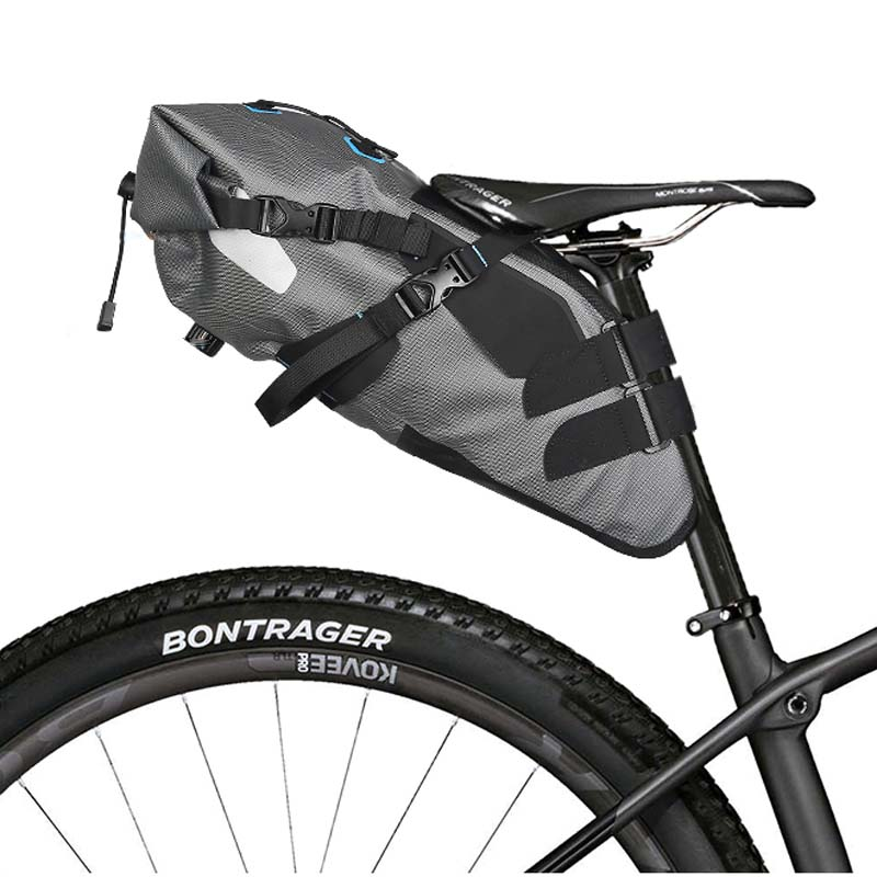 ROSWHEEL Bicycle bags Rainproof 100% Waterproof 7L Cycling Bags Bike Tail Saddle Bags Seat Packs Storage Pouch Carrier цена