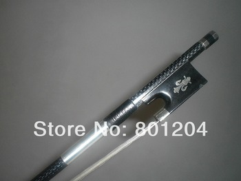 1 PCs High Quality Strong Carbon Fiber Violin bow 4/4 with Blue wire inlay, Ebony Frog1002#