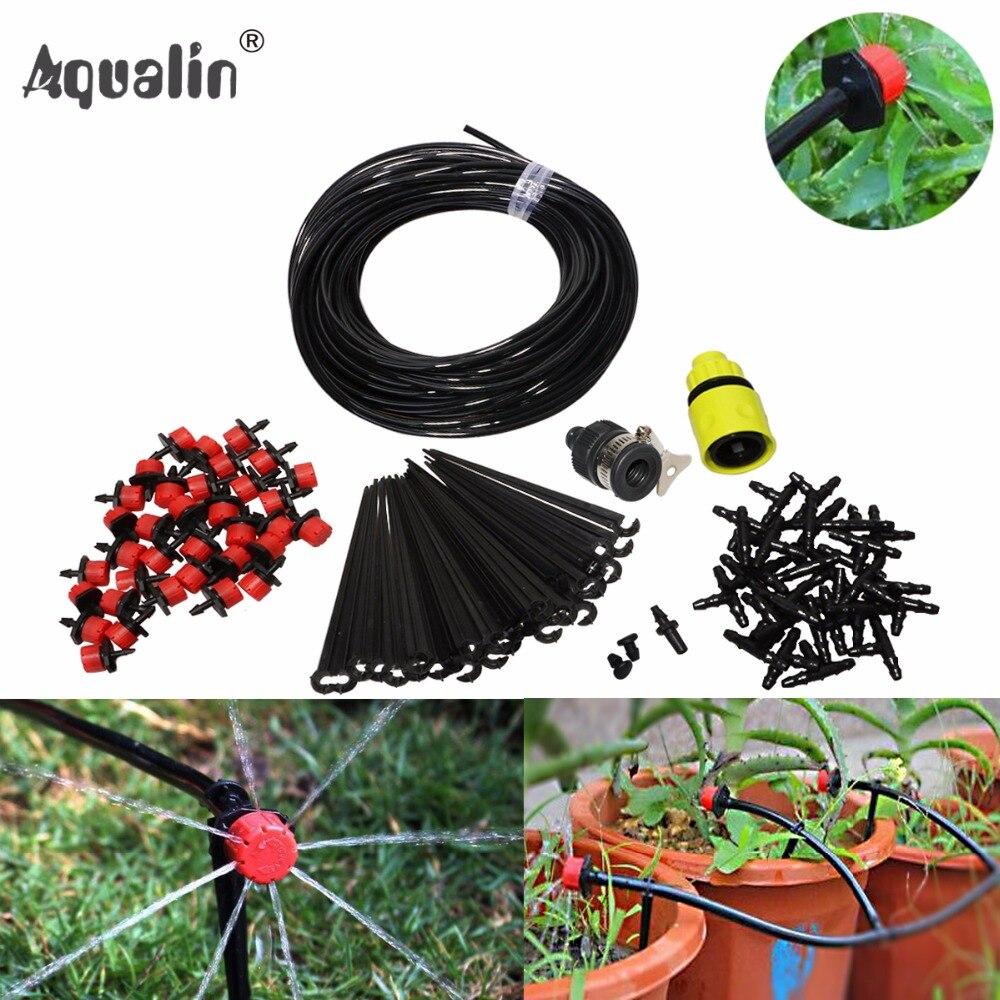 25 mt Automatische Micro Tröpfchenbewässerung Garten Bewässerung Spray Selbst Bewässerung Kits mit Einstellbarer Tropf #26301-1