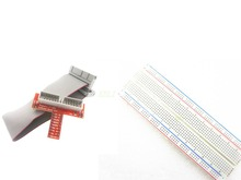 Raspberry PI GPIO adapter plate gold plug-in version+MB-102 830 points Breadboard +GPIO cable kit