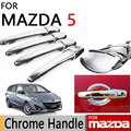 for Mazda 5 2006-2013 Accessories Chrome Door Handle Luxury No Rust 2007 2008 2009 2010 2011 2012 Car Sticker Car Styling