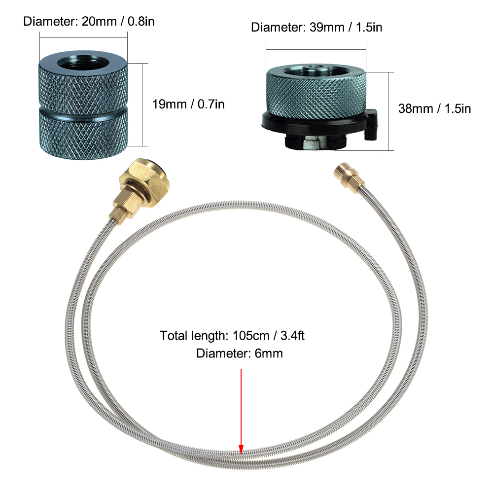 Propane Refill Adapter Connecting Outdoor Camping Cylinder Coupler Kit