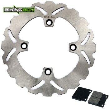 BIKINGBOY Rear Brake Disk Disc Rotor Pads for Kawasaki ZX12R NINJA 00 01 02 03 04 05 06 ZX-12R ZX12-R ZX 1200 230mm Motorcycle