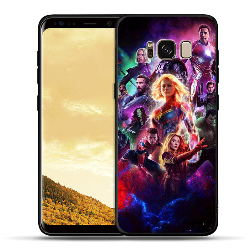 Captain Marvel Avengers Groot Raccoon Thanos Soft TPU Case For Samsung Galaxy S10e S10 S9 S8 Plus Note 8 9 S7 Edge Phone Cover