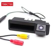 Für Audi A6 C6 2005 ~ 2011 Parkplatz Linie Auto Kamera Reverse Backup Rückansicht Stamm Griff HD CCD Nacht vision NTSC RCA