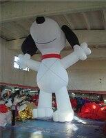 Гигантский стоящий белый надувной шар для рекламы собаки, продвижение