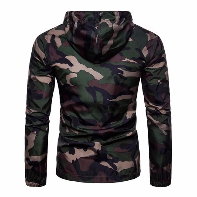 Men's casual camouflage hooded jacket men's waterproof clothing men's windbreaker fashion outdoor travel men's jacket 2019 hot