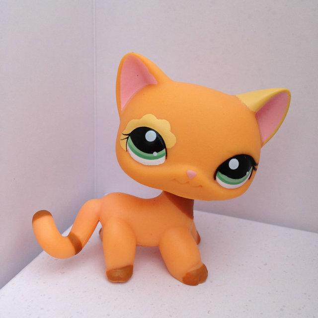 Pet Shop Animal Doll Lps Figure Child Toy Gril Short Hair Cat Dwa265
