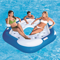 Summer inflatable island inflatable floating island Float Seat super large water toys inflatable water chair inflatable mattress