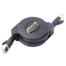 Выдвижной Ультра Плоский позолоченный Ethernet-кабель cat-7 10 Gigabit RJ45 для модемного маршрутизатора LAN сети