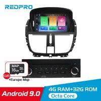7 ips Android 9,0 автомобильный dvd радио GPS плеер для peugeot 207 2008 2014 Авто Аудио Видео Навигация стерео Bluetooth FM Мультимедиа