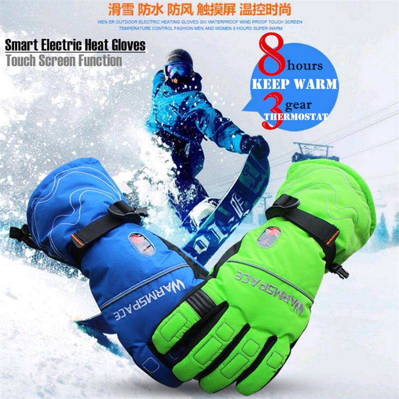 5600MAH Smart Touch Screen Electric Heated font b Gloves b font Outdoor font b Ski b