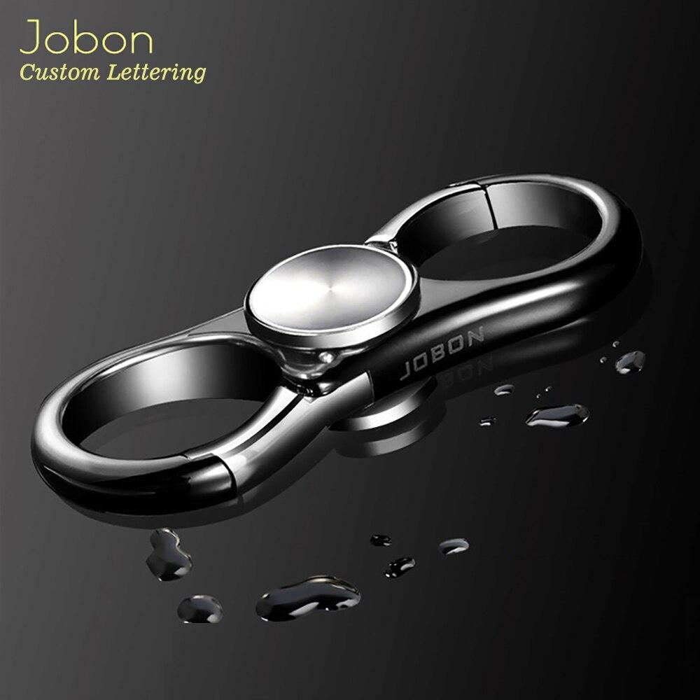 Jobon 2019 chaveiro criativo das mulheres dos homens chaveiro giroscópio carro chaveiros melhor presente para os homens chaveiro chaveiro titular saco pingente