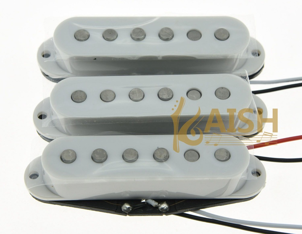 3x White Alnico 5 Single Coil Pickups ST Strat SSS Pickup Set single coil pickup cover 1 volume 2 tone knobs switch tip for strat guitar replacement ivory 10 set