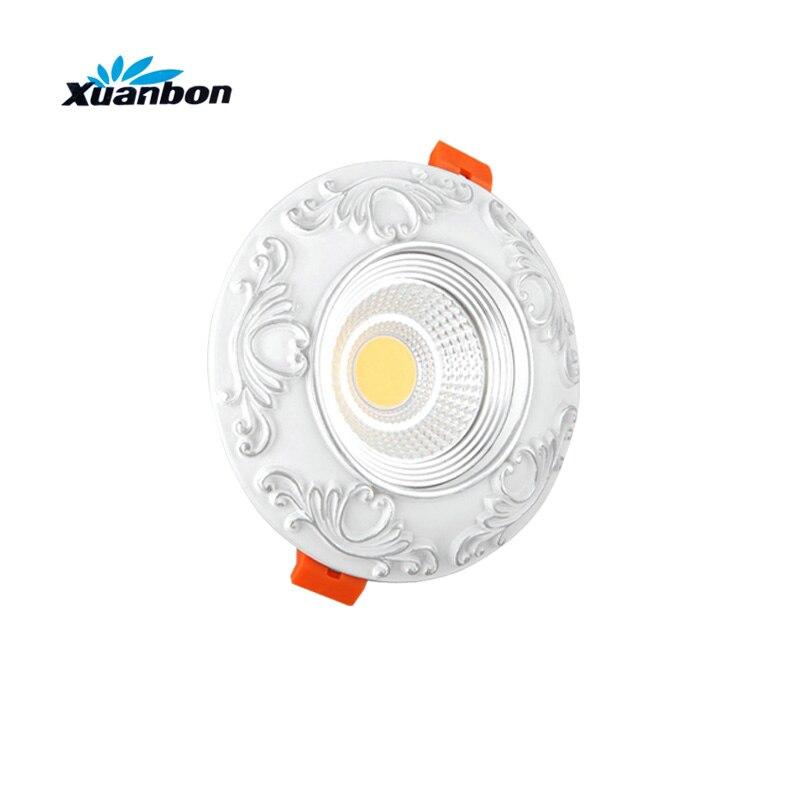 LED Подпушка свет затемнения 5 Вт 7 Вт Spot LED Подпушка огней затемнения COB LED Spot встраиваемые Подпушка огни для гостиная 110 В 220 В