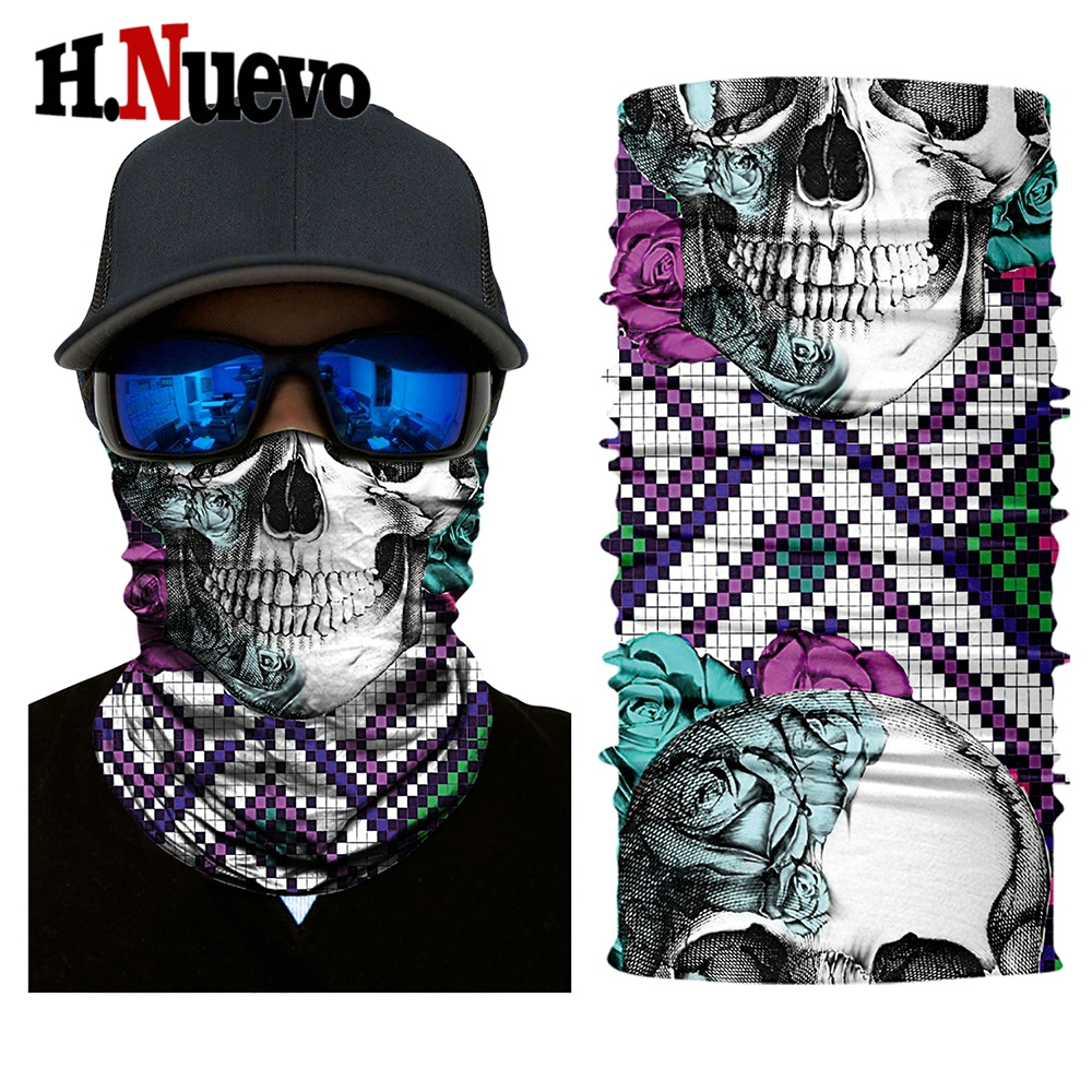 HR040318 for motorcycle skull face mask balaclava winter biker masque bandana