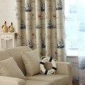 Готовый Морской стиль  винтажный принт  рисунок корабля  занавески и драпировка для гостиной  для двери в спальню  на кухню  обработка окон