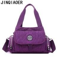 Women Messenger Bags For Female Beach Solid Nylon Handbag Tote Casual Shoulder Bag Satchel Crossbody Bags