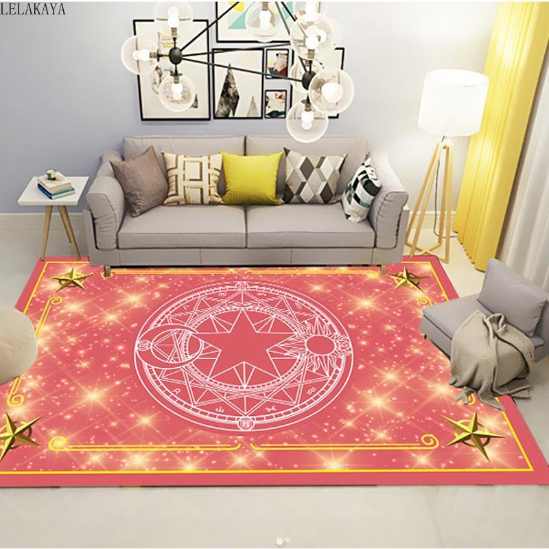 18 Styles Card Captor Sakura Anime Action Figure Printed Magic Pattern Living Room Carpet Cartoon Creative Carpet Kids Play Mats