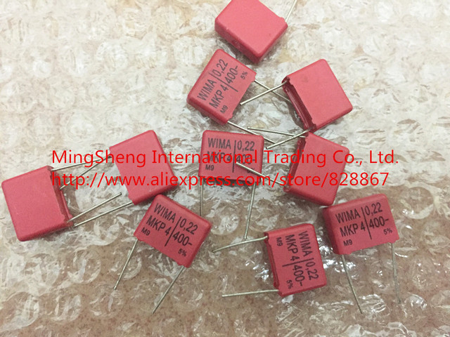 Original new 100% Germany red 400V 0.22UF 224 electrical capacitance coupled electrodeless capacitor have a feve (Inductor)