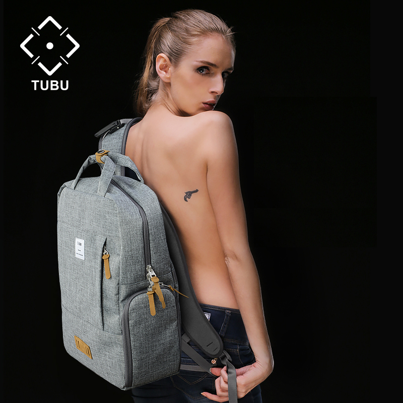 TUBU 6109 double-shoulder digital camera bag slr bag professional anti-theft camera backpack Put 14 inch laptop benro cool walker series cw 100n double shoulder slr professional camera bag camera bag rain cover