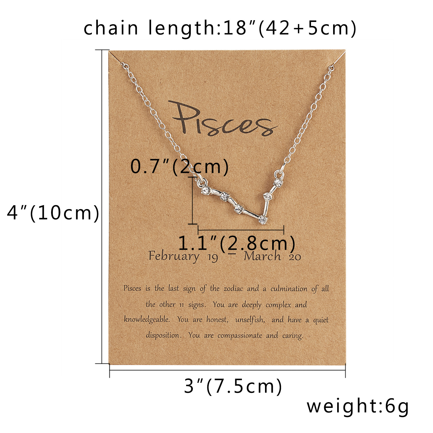12 Constellation Silver Necklace with card Zodiac Sign Rhinestone Birthday gift Galaxy Necklace for Women Constellation Necklace in Pendant Necklaces from Jewelry Accessories