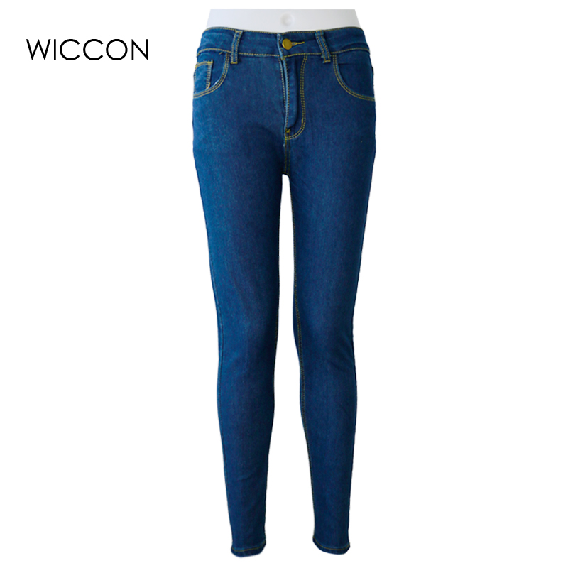 Women High Waist Jeans Casual Denim Skinny sex Pencil Pants casual slim female spring summer jean trousers  jeans femme WICCON rosicil jeans women 2017 spring new plus size jeans female high waist slim skinny denim pants femme pencil jeans pants sl021
