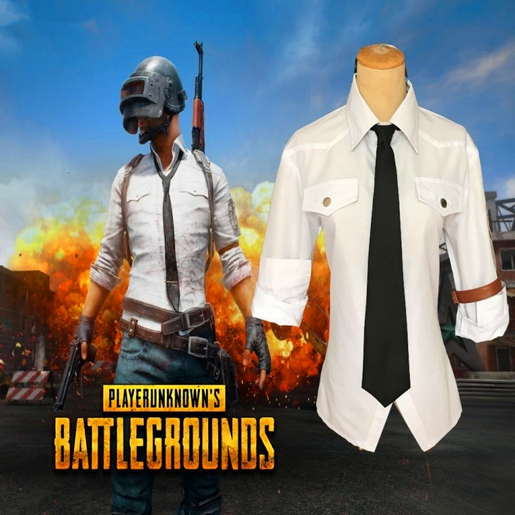 Hot Game Pubg Cosplay Costume White Shirt Eat Chicken Uniform Outfit Anime  Cosplay Costume Halloween Carnival  Cosplay Costume