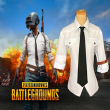 Game Pubg White Shirt Eat Chicken Uniform Outfit Anime Halloween Carnival