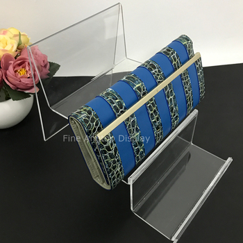 3 Tiers Plastic Purse Wallet Bag Book Products Sign Display Rack Holders Stands For Retail Shop