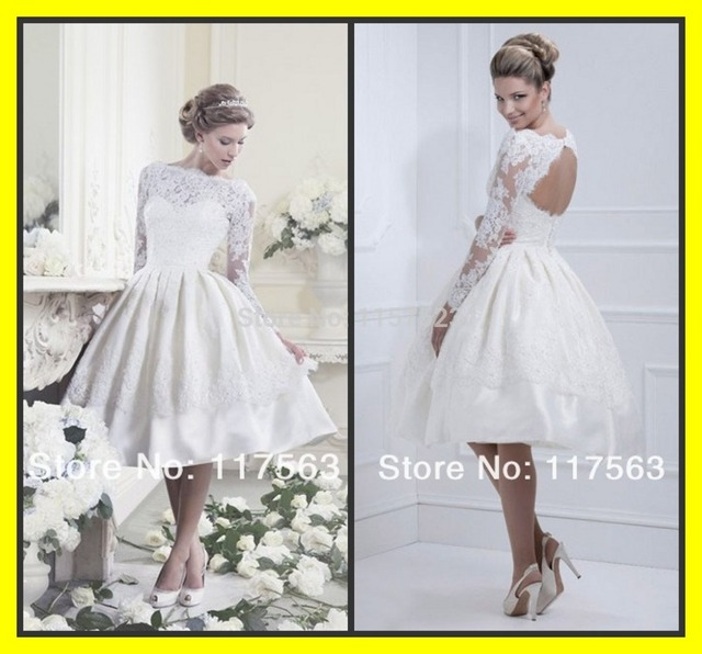 Vestidos cóctel para bodas de novia de encaje corto Champagne ...