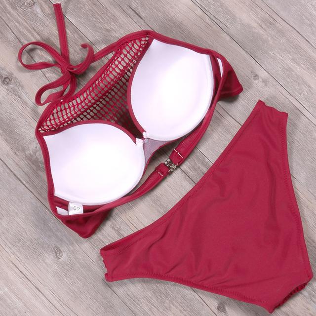 Meshed Brazilian Bikinis set
