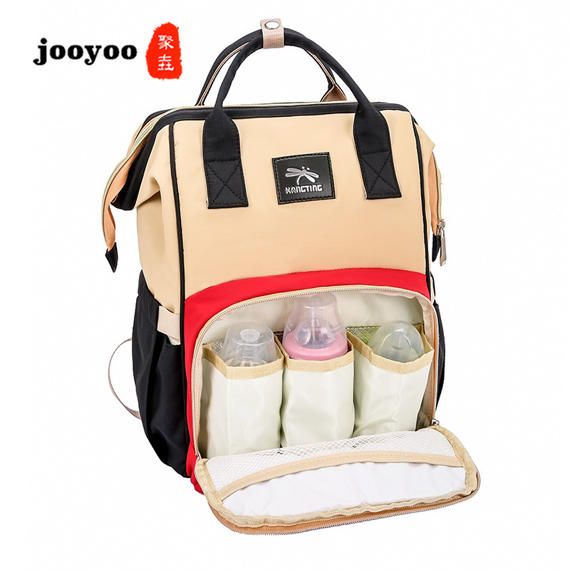 Mummy Bag Fashion Multi-function Large-capacity Handbag Backpack Out Portable Baby Package Wholesale Backpack Diaper Bag jooyooMummy Bag Fashion Multi-function Large-capacity Handbag Backpack Out Portable Baby Package Wholesale Backpack Diaper Bag jooyoo