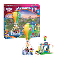 275pcs Building blocks toy clown Hot air balloon city modern paradise Building toy 3 figure model assemble toys baby kids gift