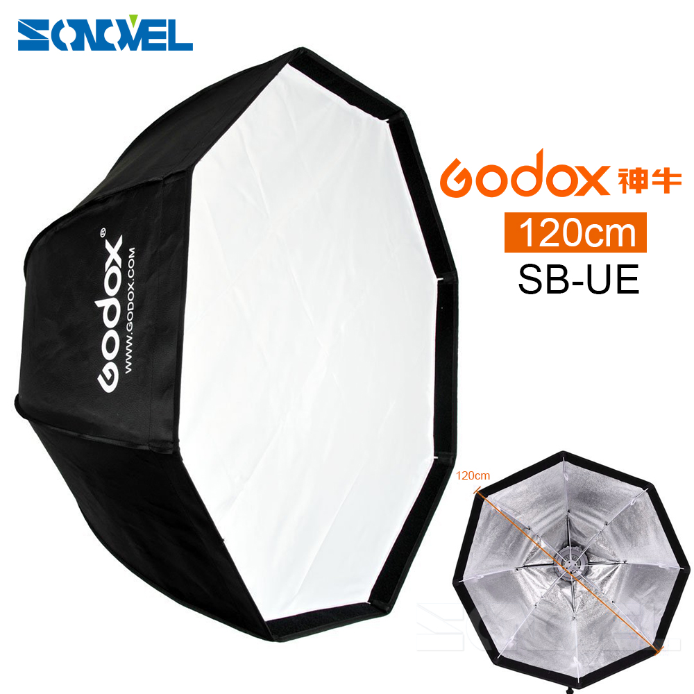 цена на Godox 120cm Portable Octagonal Umbrella Softbox SB-UE 120cm / 47in with Bowens Mount for Speedlite